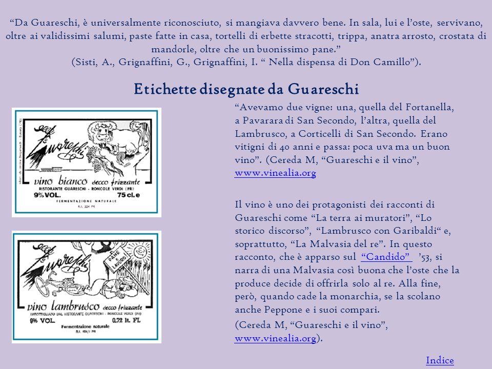 Etichette disegnate da Guareschi