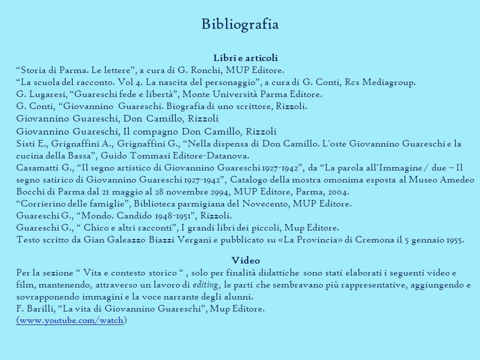 Bibliografia Libri e articoli