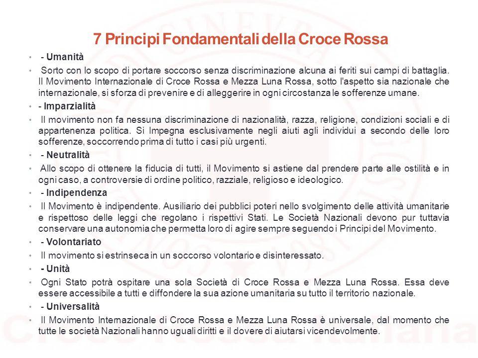 7 Principi Fondamentali della Croce Rossa
