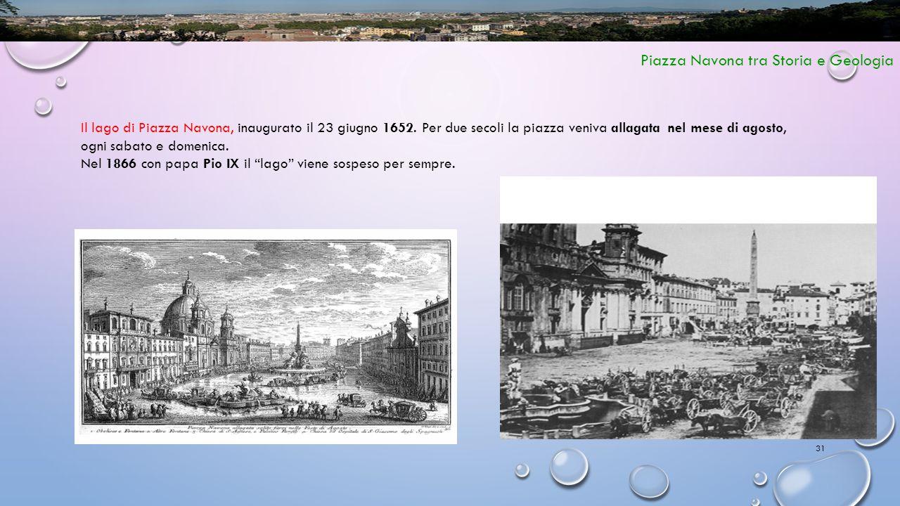 Piazza Navona tra Storia e Geologia