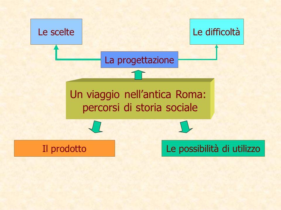 Un viaggio nell'antica Roma: percorsi di storia sociale