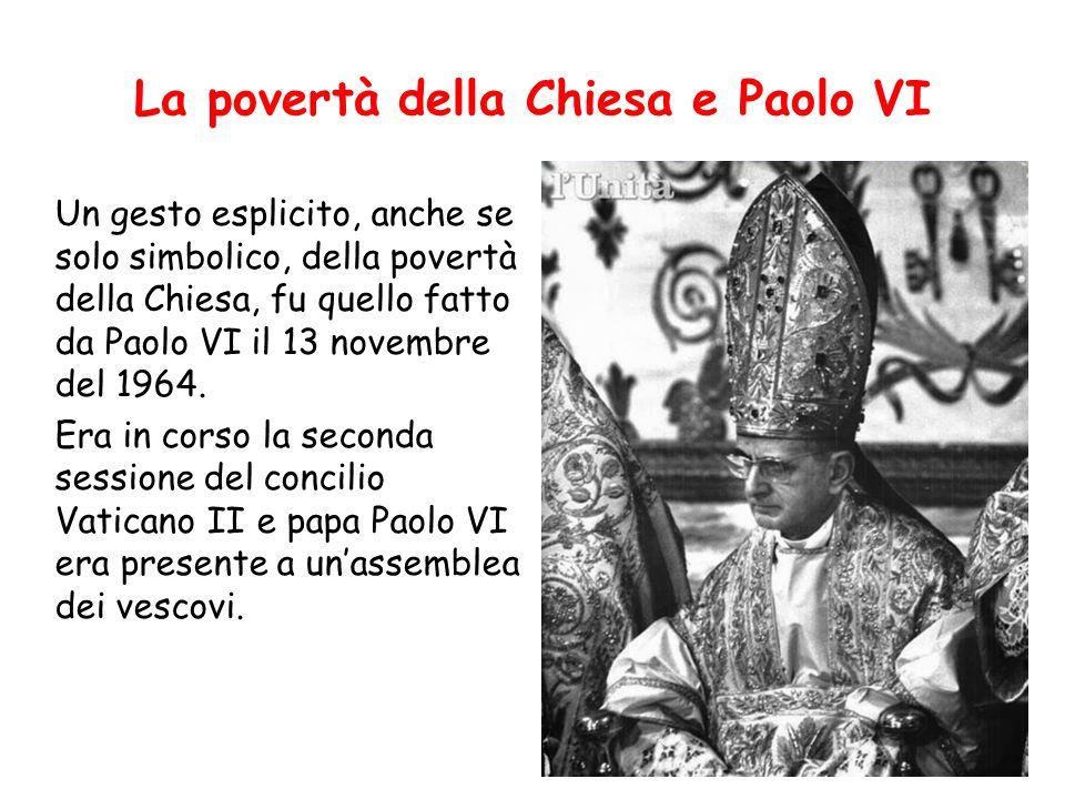 La povertà della Chiesa e Paolo VI