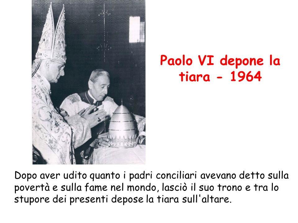 Paolo VI depone la tiara - 1964