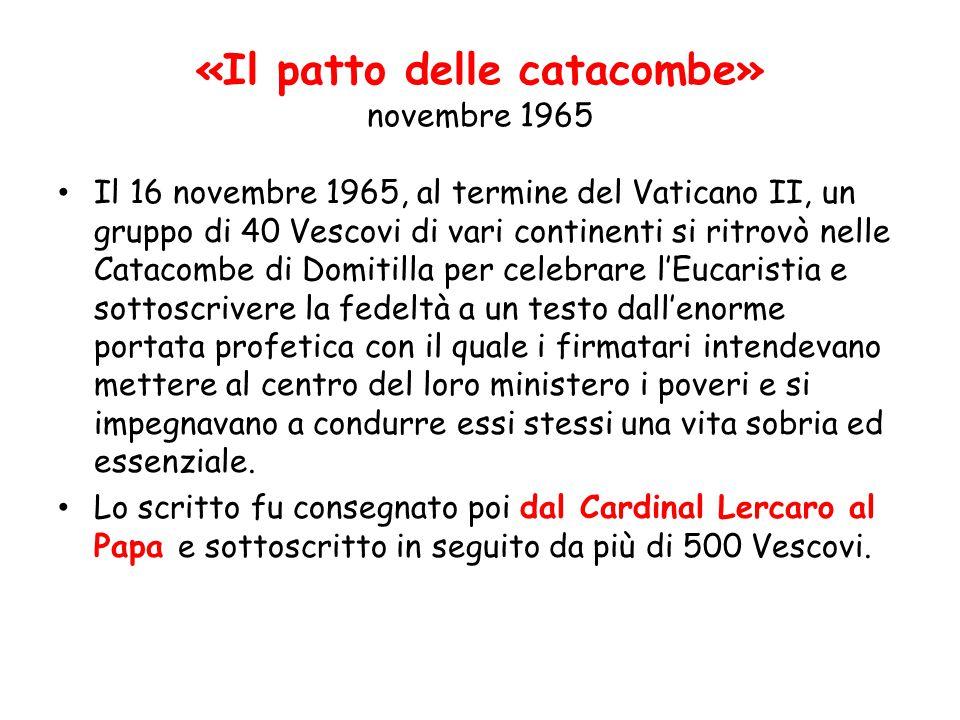 «Il patto delle catacombe» novembre 1965