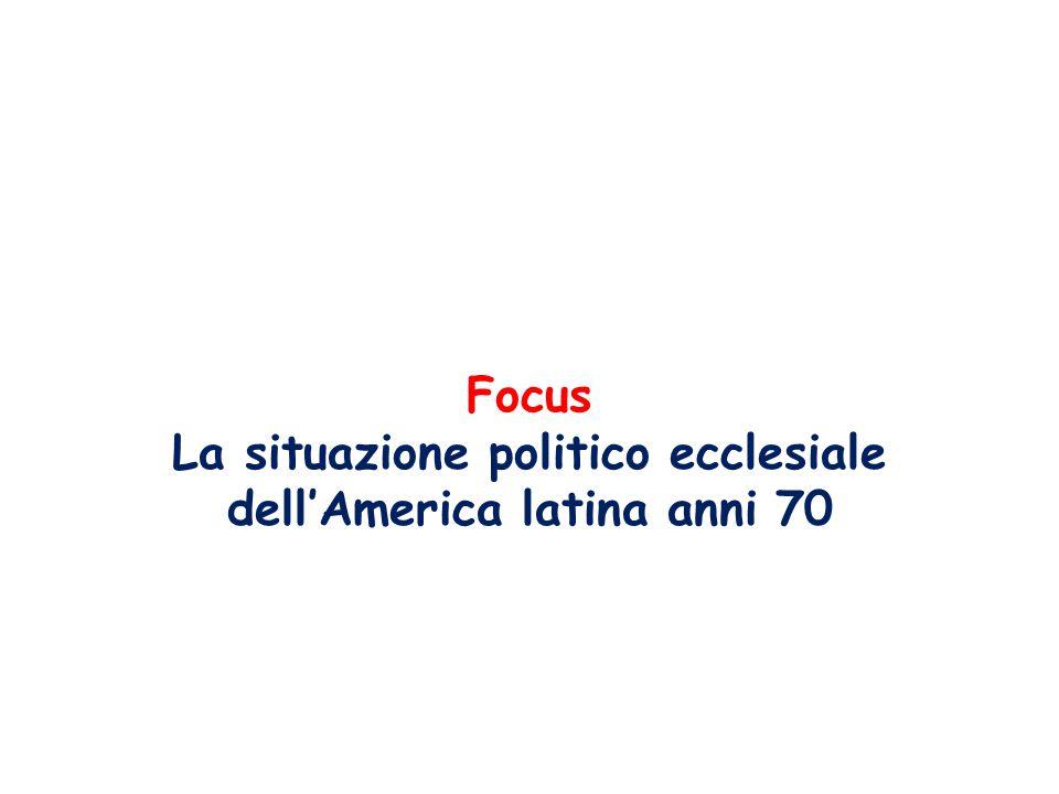 La situazione politico ecclesiale dell'America latina anni 70