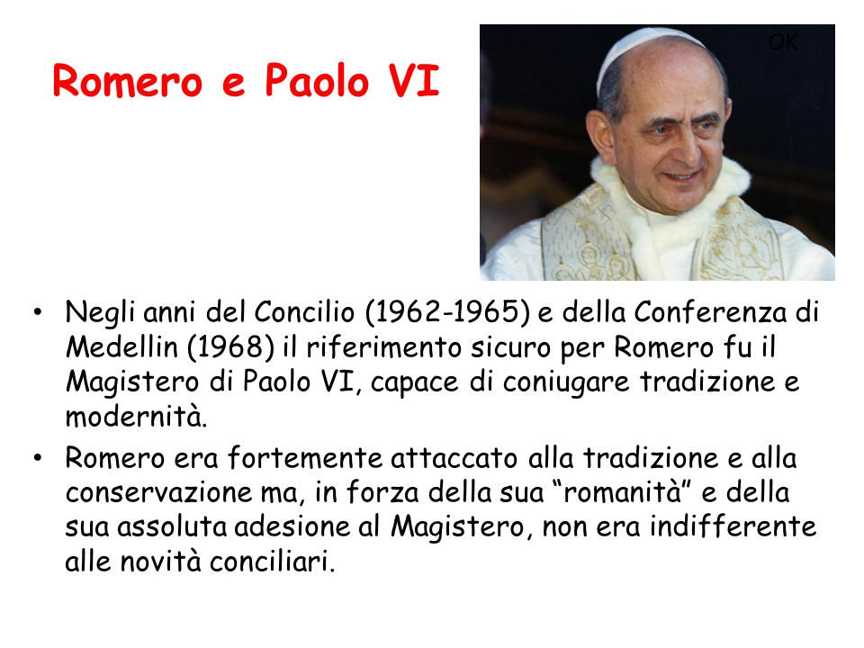 Romero e Paolo VI OK.