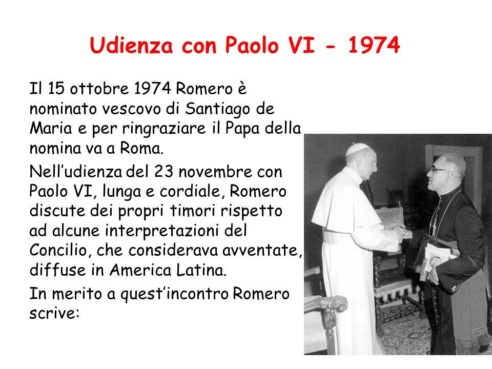 Udienza con Paolo VI - 1974