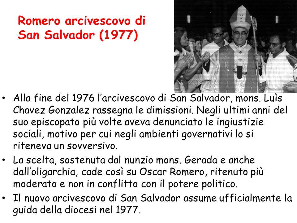 Romero arcivescovo di San Salvador (1977)