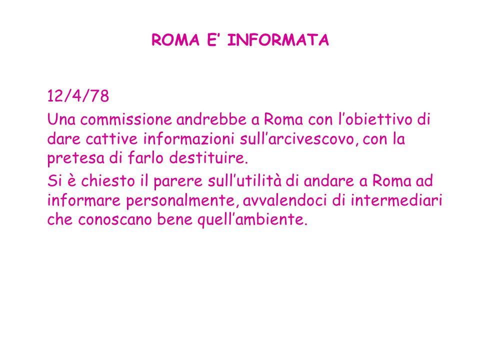 ROMA E' INFORMATA