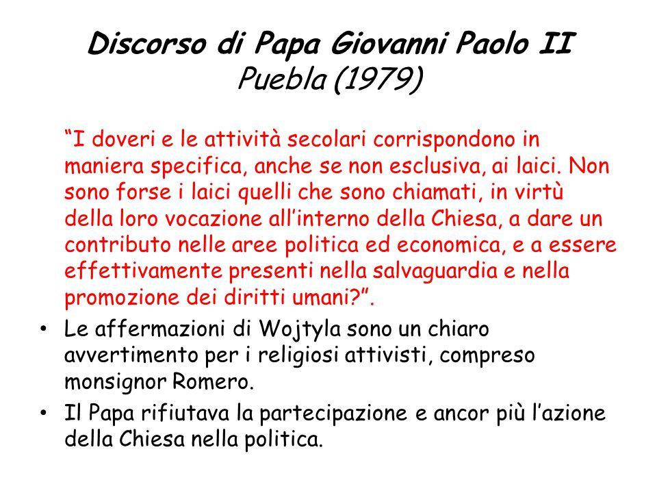 Discorso di Papa Giovanni Paolo II Puebla (1979)