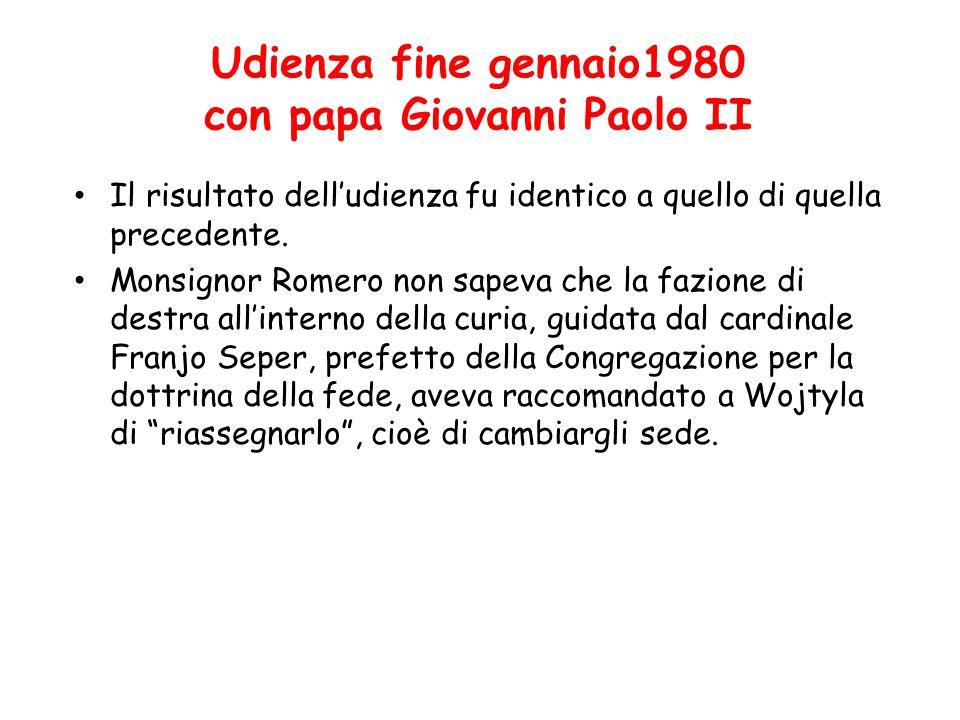 Udienza fine gennaio1980 con papa Giovanni Paolo II