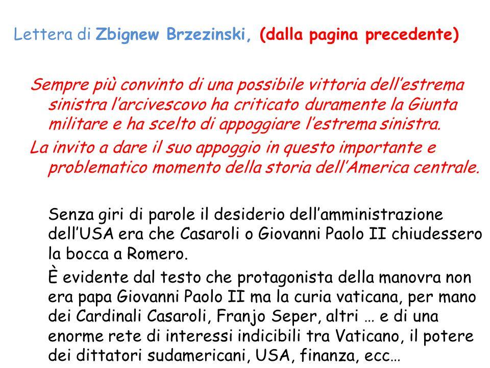 Lettera di Zbignew Brzezinski, (dalla pagina precedente)