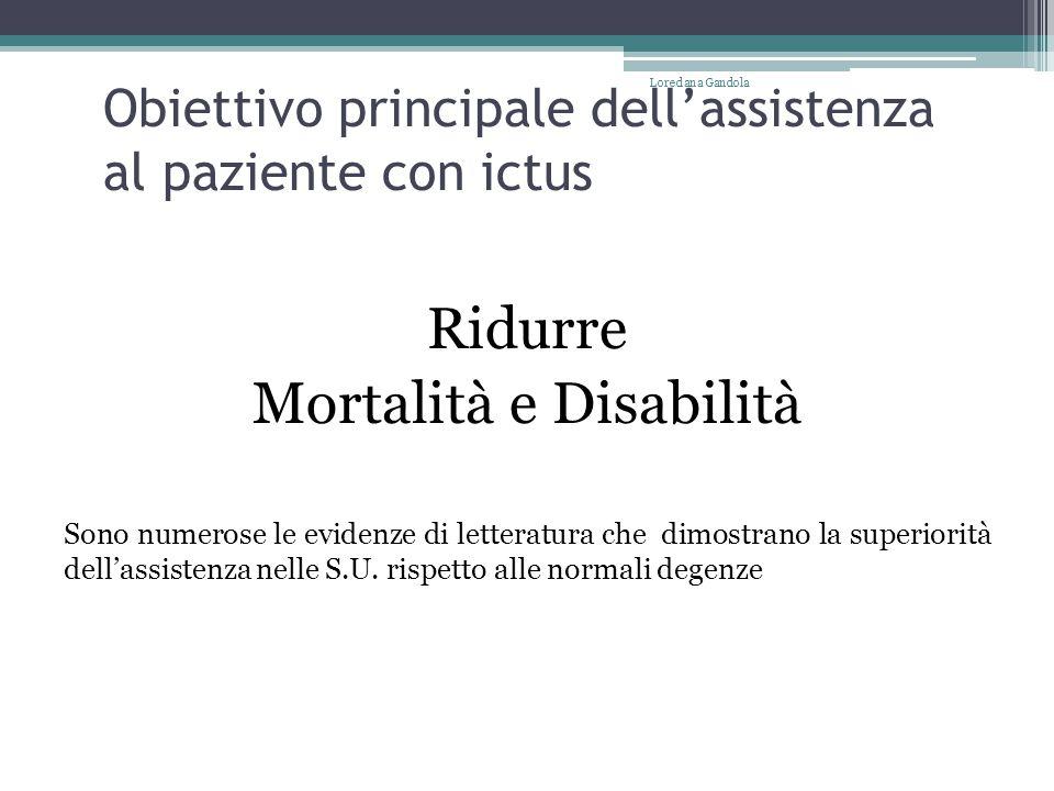 Obiettivo principale dell'assistenza al paziente con ictus