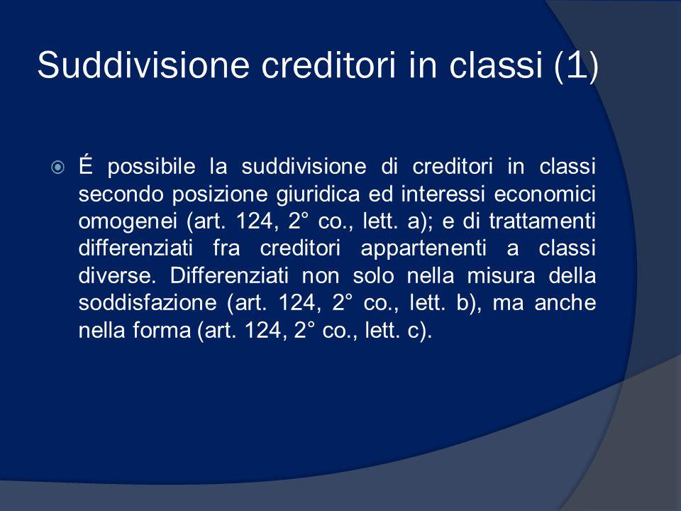 Suddivisione creditori in classi (1)