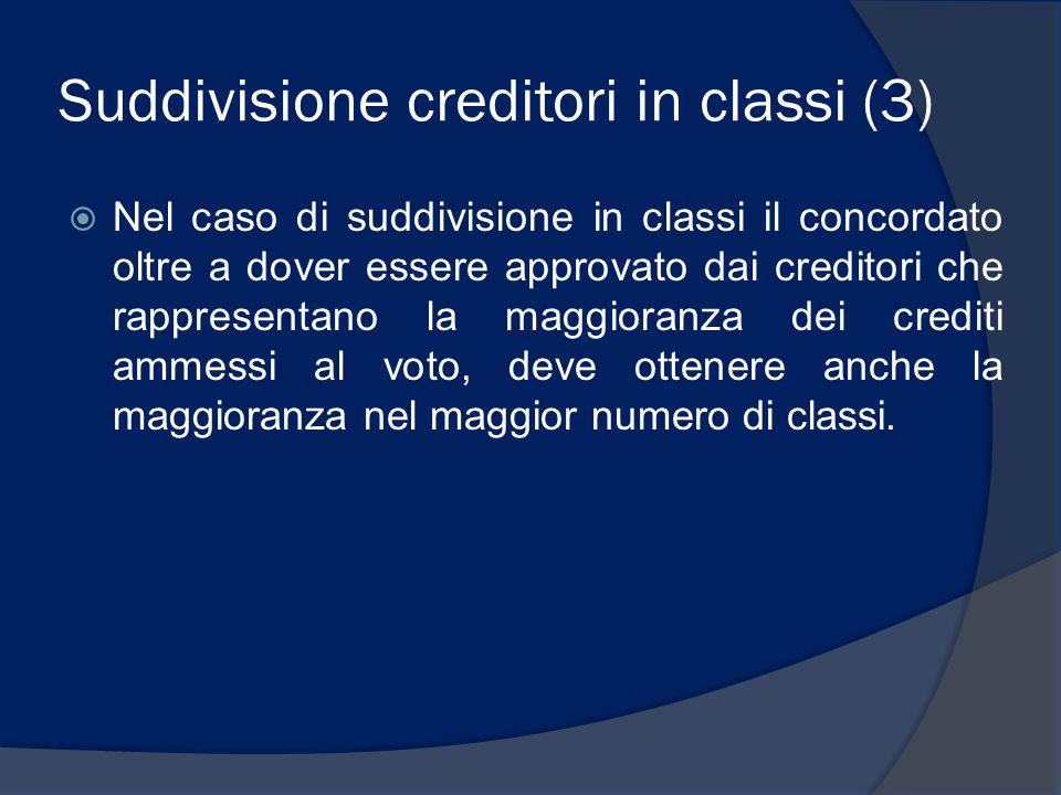 Suddivisione creditori in classi (3)