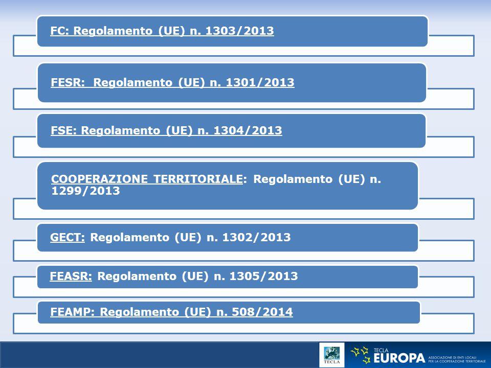 FC: Regolamento (UE) n. 1303/2013
