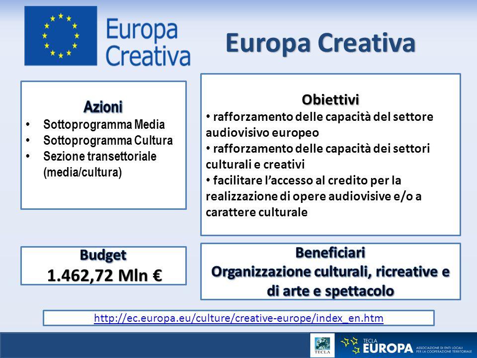 Organizzazione culturali, ricreative e di arte e spettacolo