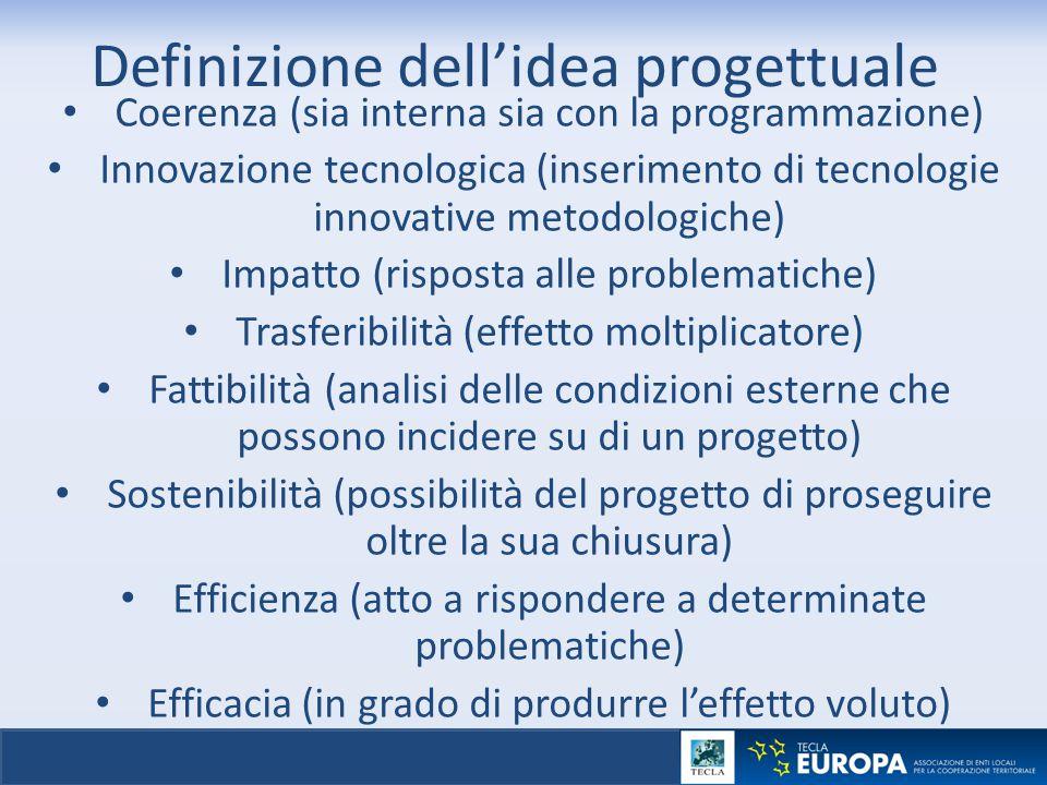 Definizione dell'idea progettuale