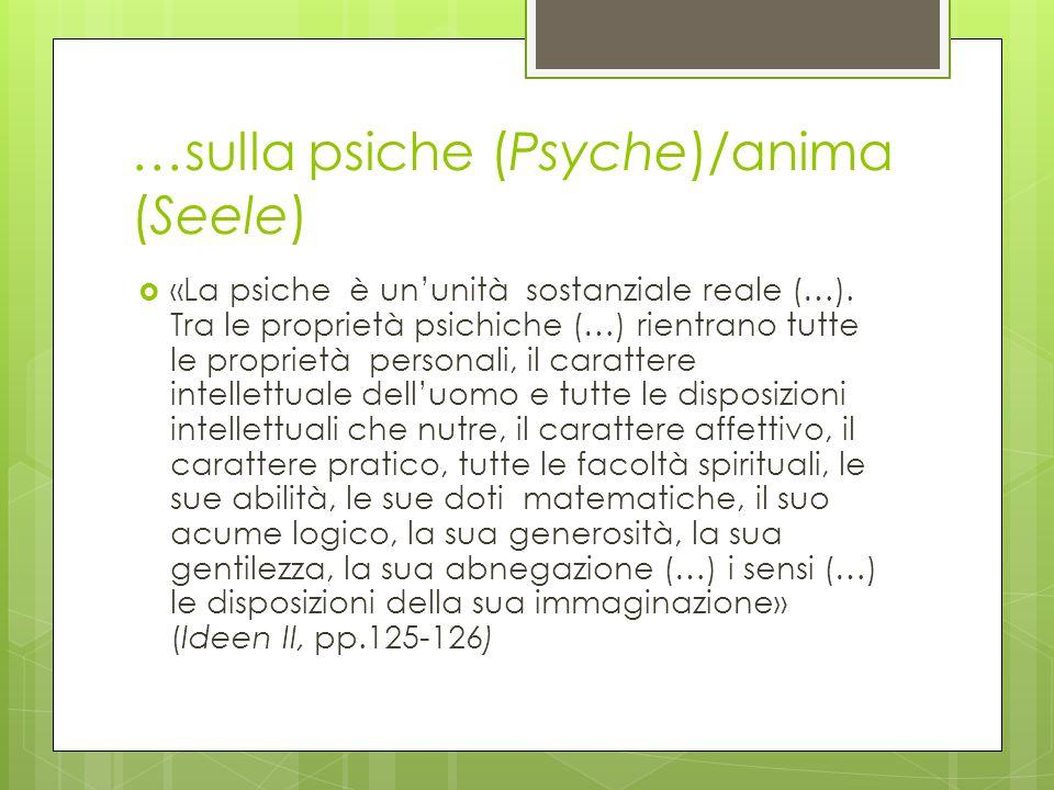 …sulla psiche (Psyche)/anima (Seele)