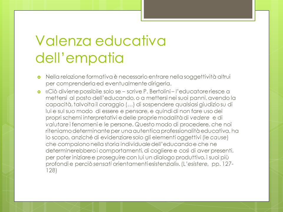 Valenza educativa dell'empatia