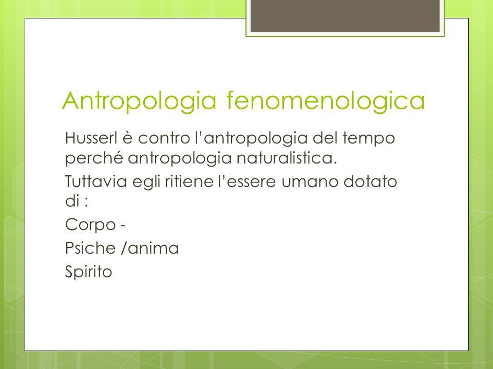 Antropologia fenomenologica