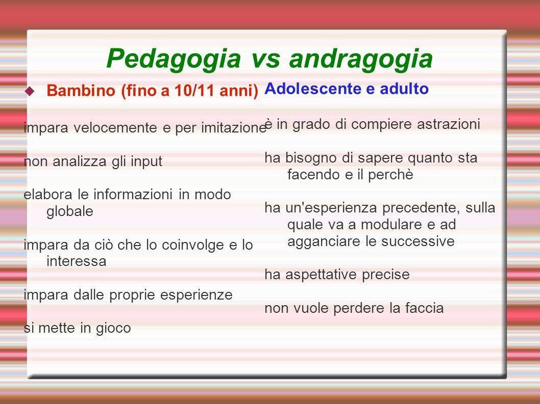 Pedagogia vs andragogia