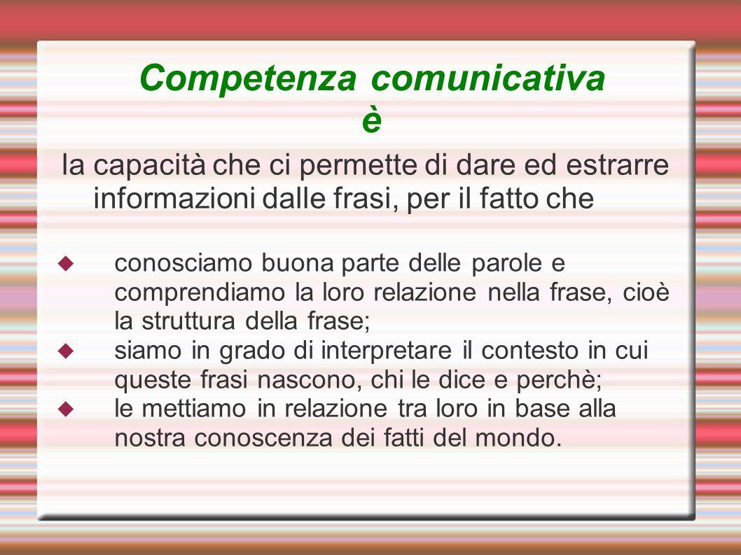 Competenza comunicativa è