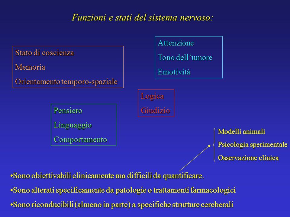 Funzioni e stati del sistema nervoso: