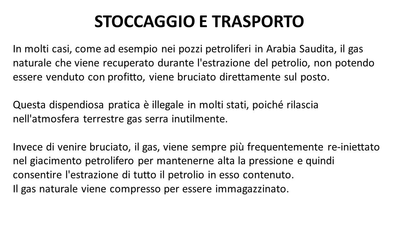 STOCCAGGIO E TRASPORTO