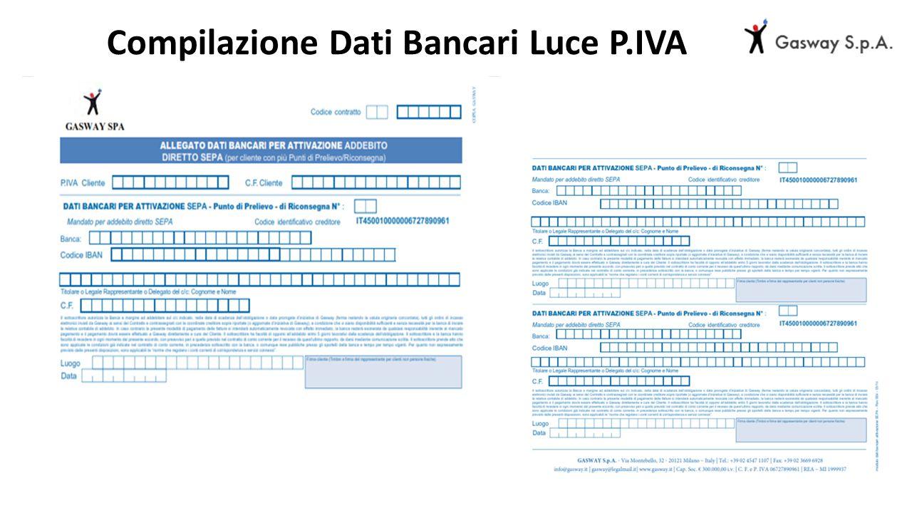 Compilazione Dati Bancari Luce P.IVA