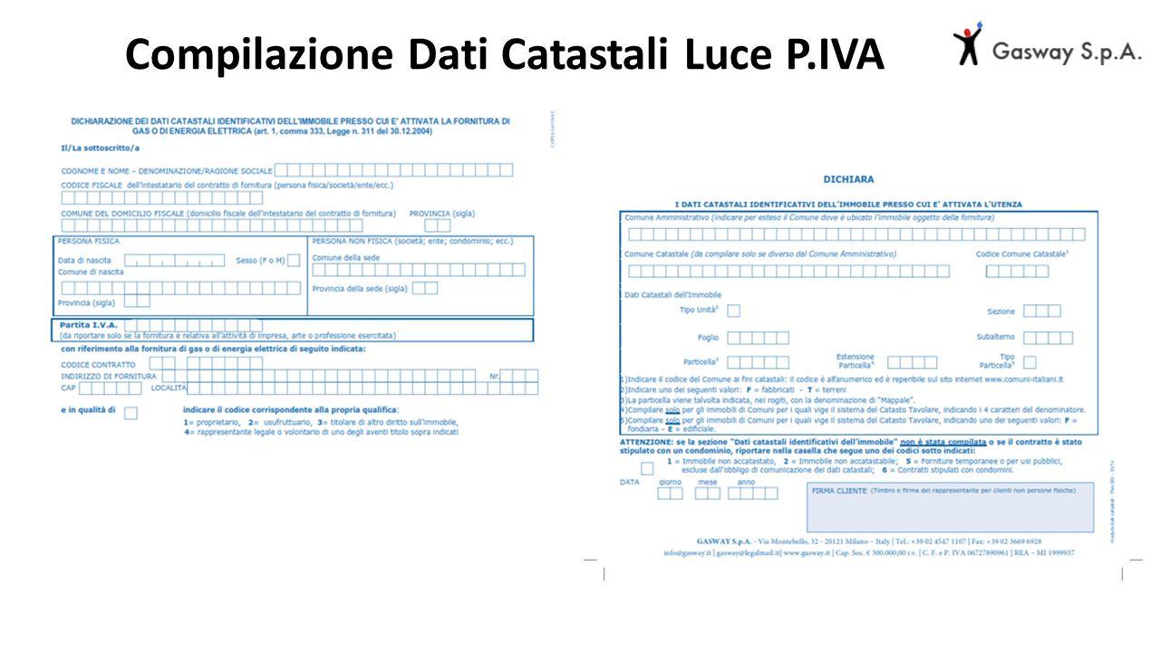 Compilazione Dati Catastali Luce P.IVA