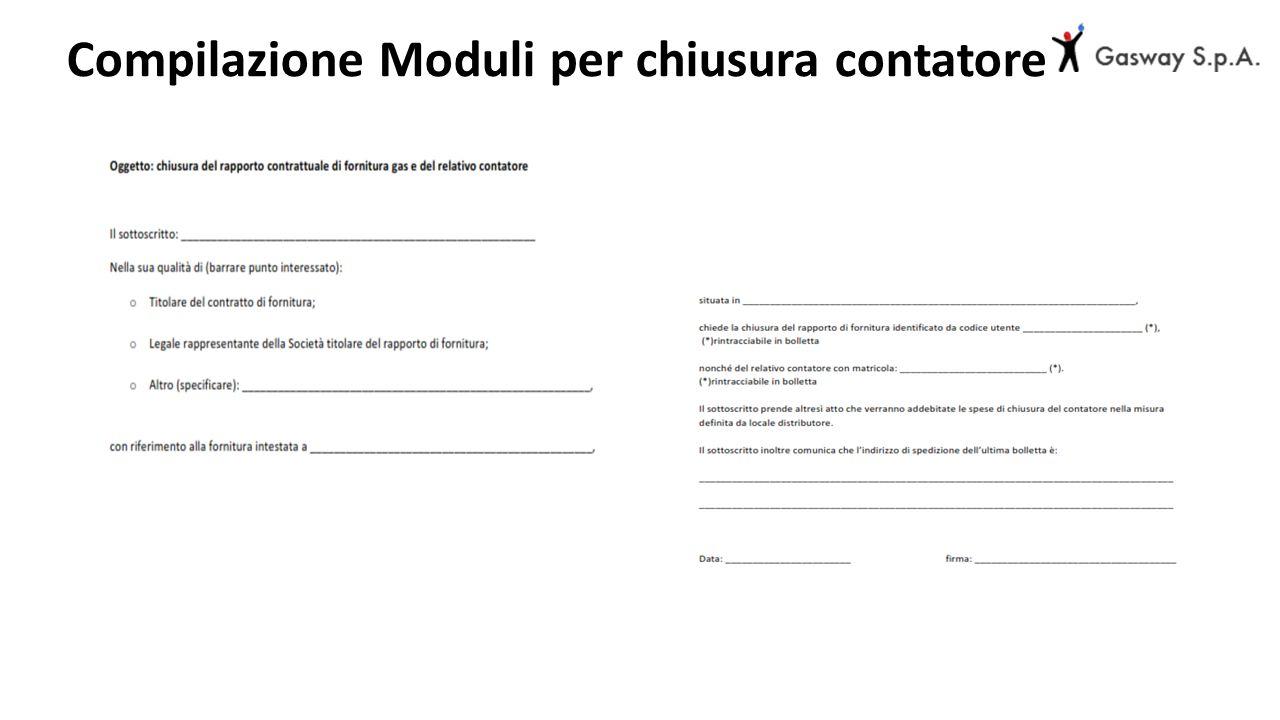 Compilazione Moduli per chiusura contatore