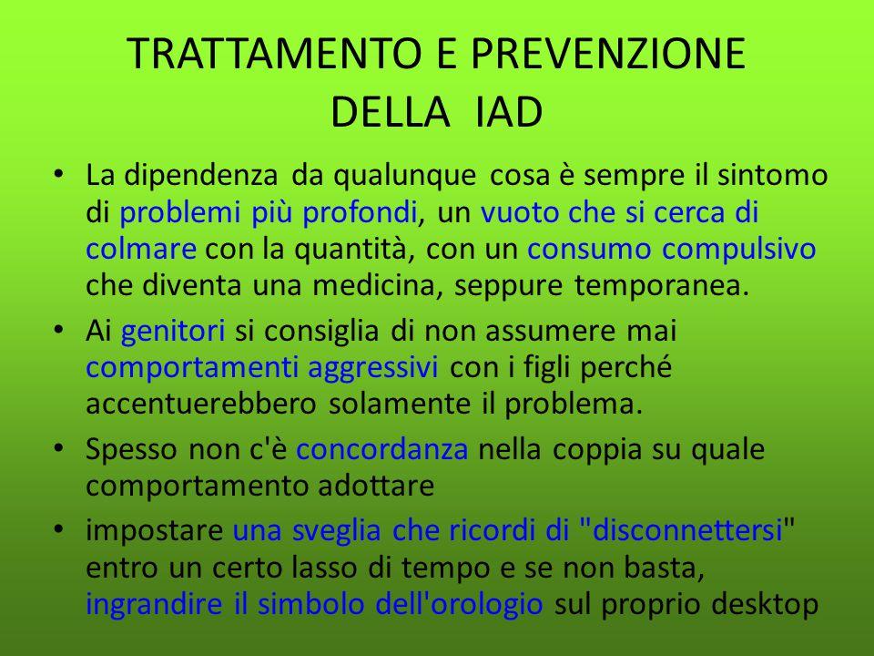TRATTAMENTO E PREVENZIONE DELLA IAD