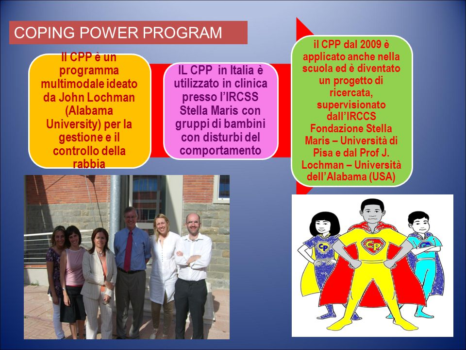 Il CPP è un programma multimodale ideato da John Lochman (Alabama University) per la gestione e il controllo della rabbia