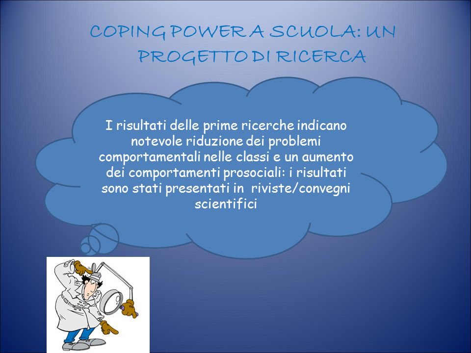 COPING POWER A SCUOLA: UN PROGETTO DI RICERCA