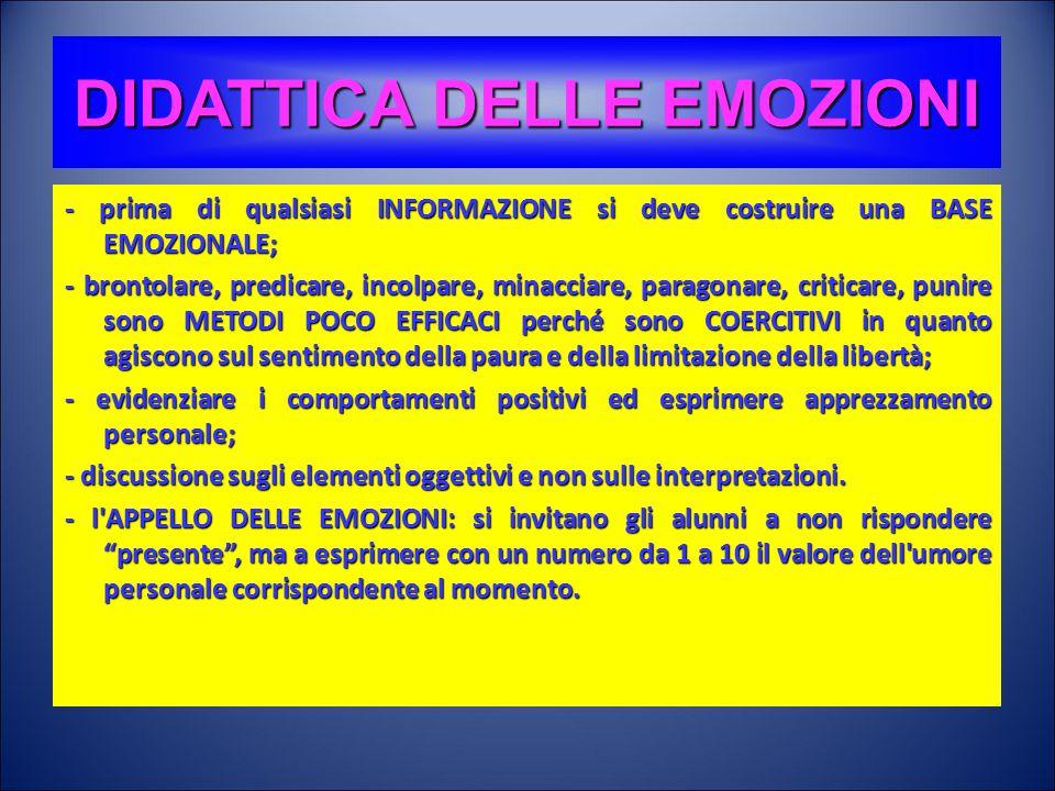 DIDATTICA DELLE EMOZIONI