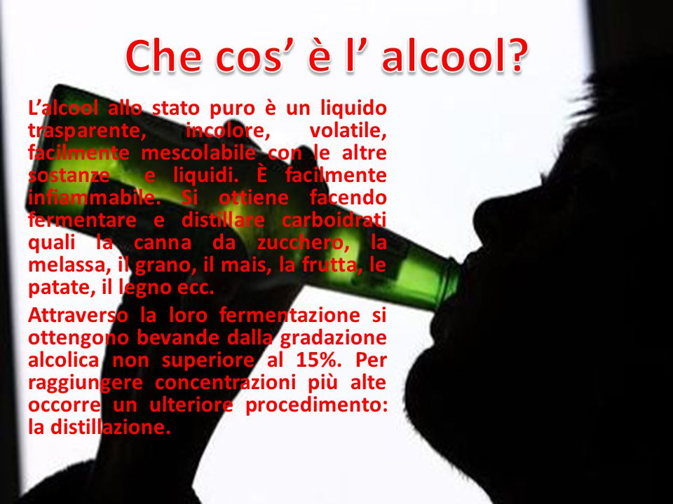 Che cos' è l' alcool