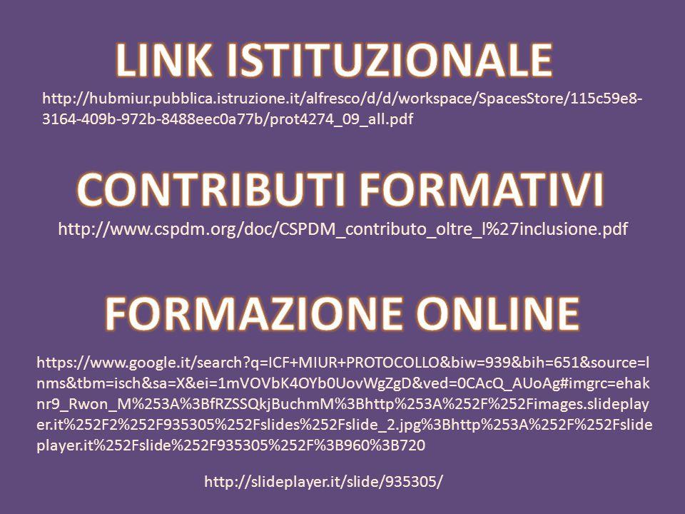LINK ISTITUZIONALE CONTRIBUTI FORMATIVI FORMAZIONE ONLINE