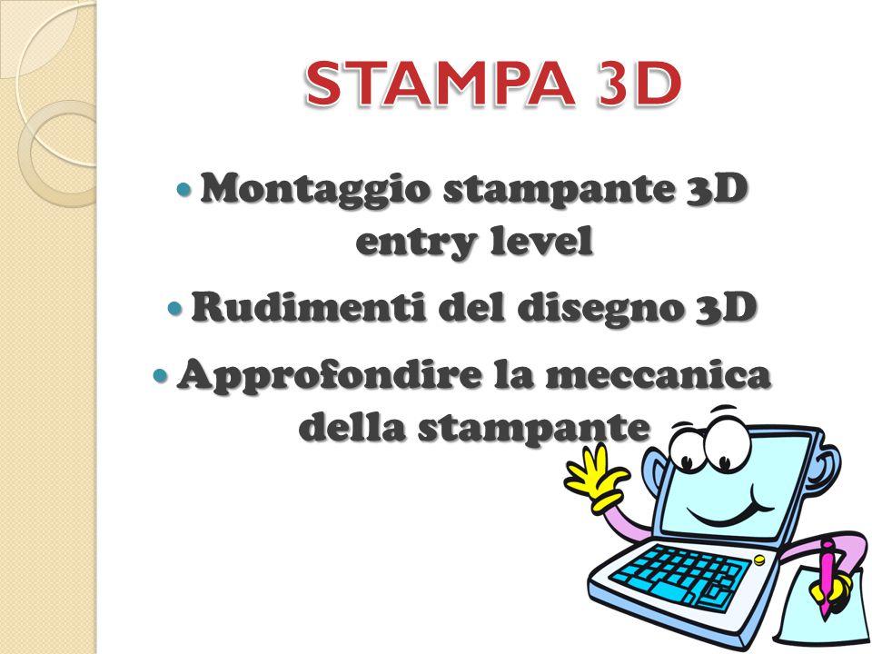 STAMPA 3D Montaggio stampante 3D entry level Rudimenti del disegno 3D