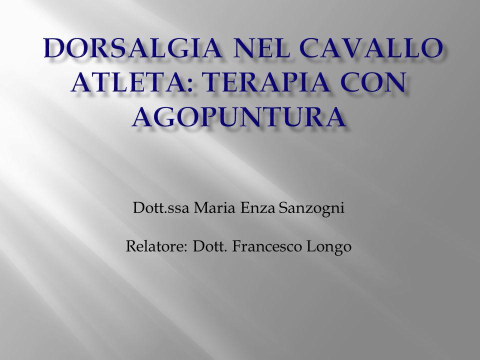 DORSALGIA NEL CAVALLO ATLETA: TERAPIA CON AGOPUNTURA