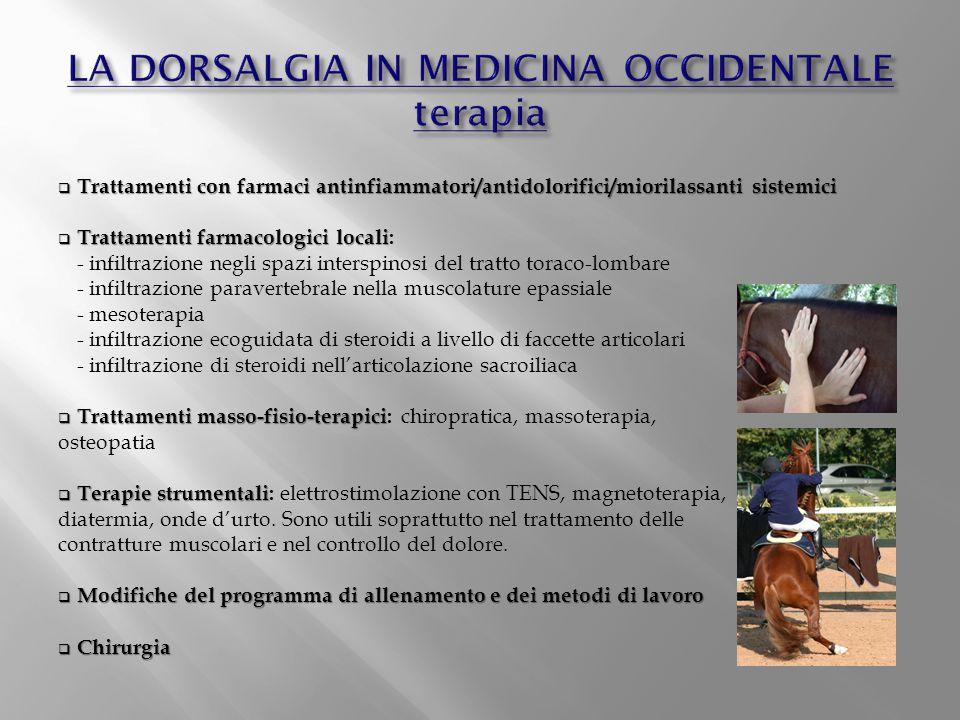LA DORSALGIA IN MEDICINA OCCIDENTALE terapia