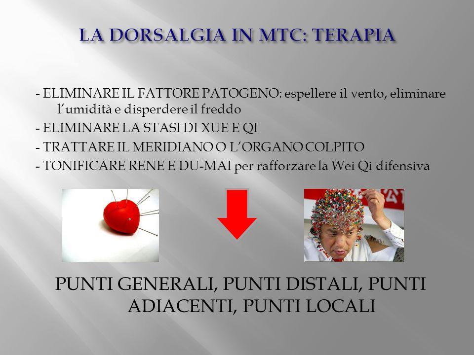 LA DORSALGIA IN MTC: TERAPIA