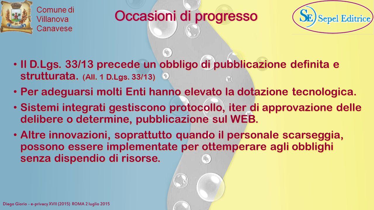 Occasioni di progresso