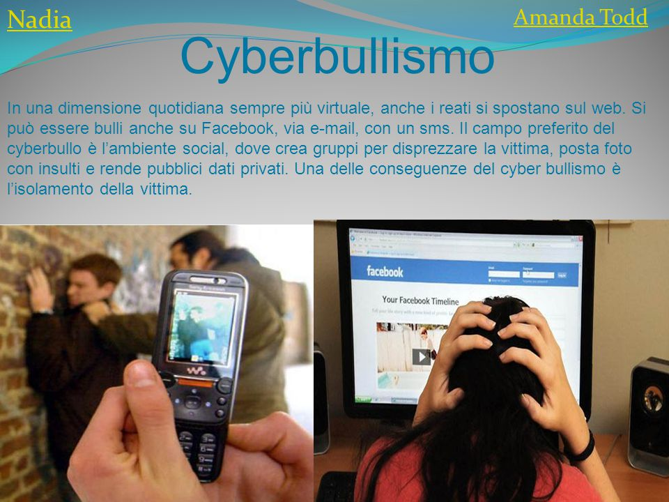 Cyberbullismo Nadia Amanda Todd