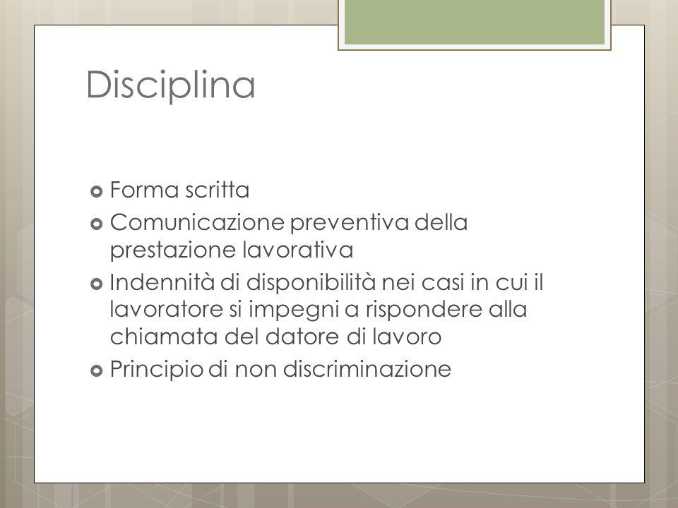 Disciplina Forma scritta