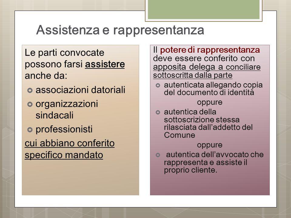 Assistenza e rappresentanza