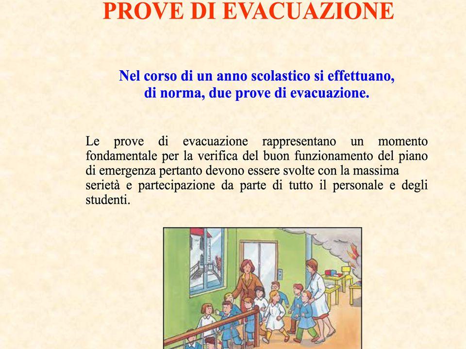 Predisporre e coordinare le varie prove di evacuazione