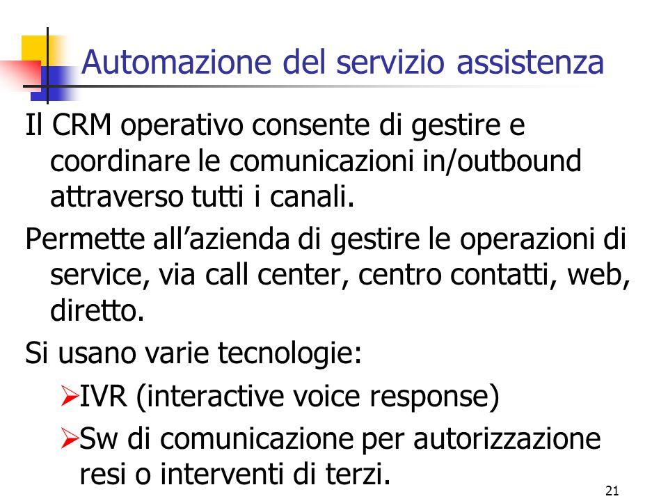 Automazione del servizio assistenza