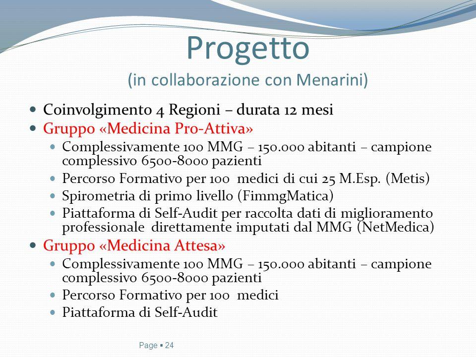 Progetto (in collaborazione con Menarini)