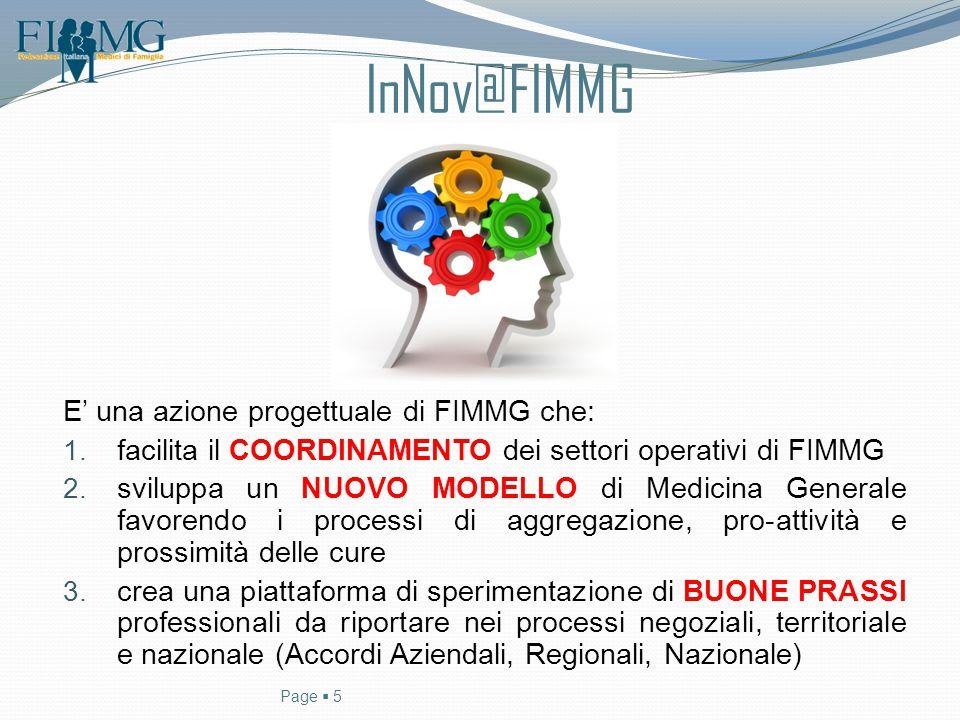 InNov@FIMMG E' una azione progettuale di FIMMG che: